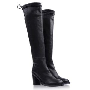 Ann Demeulemeester Black Knee High Leather Boots